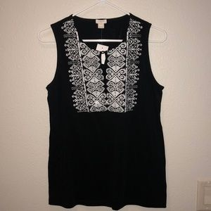 J Crew embroider top!